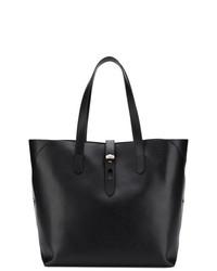 schwarze Shopper Tasche aus Leder von Hogan