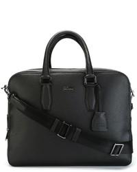 schwarze Shopper Tasche aus Leder von Hugo Boss