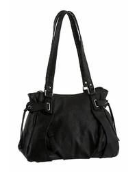 schwarze Shopper Tasche aus Leder von J. JAYZ
