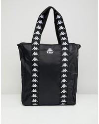 schwarze Shopper Tasche aus Leder von Kappa