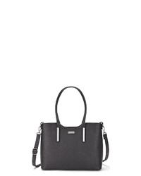 schwarze Shopper Tasche aus Leder von Lascana