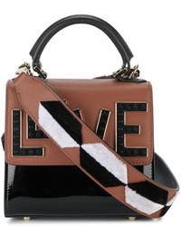 schwarze Shopper Tasche aus Leder von Les Petits Joueurs