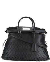 schwarze Shopper Tasche aus Leder von Maison Margiela