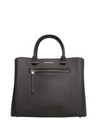 schwarze Shopper Tasche aus Leder von Mango