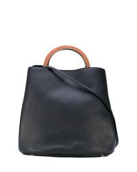 schwarze Shopper Tasche aus Leder von Marni