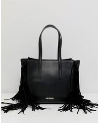 schwarze Shopper Tasche aus Leder von Max & Co.