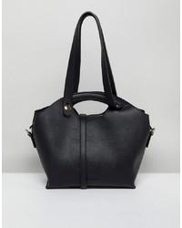 schwarze Shopper Tasche aus Leder von Melie Bianco