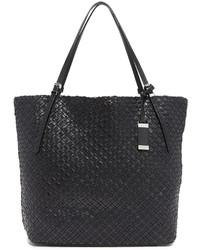schwarze Shopper Tasche aus Leder von Michael Kors