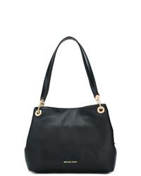 schwarze Shopper Tasche aus Leder von MICHAEL Michael Kors