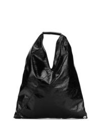 schwarze Shopper Tasche aus Leder von MM6 MAISON MARGIELA