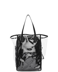 schwarze Shopper Tasche aus Leder von Moncler Genius