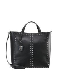 Schwarze Shopper Tasche aus Leder von Morgan
