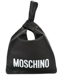 schwarze Shopper Tasche aus Leder von Moschino