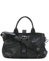 schwarze Shopper Tasche aus Leder von P.A.R.O.S.H.