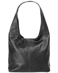 schwarze Shopper Tasche aus Leder von Piké
