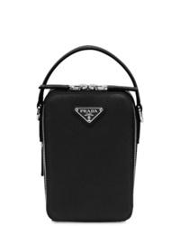 schwarze Shopper Tasche aus Leder von Prada