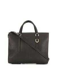 schwarze Shopper Tasche aus Leder von Rick Owens