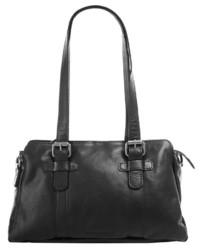 schwarze Shopper Tasche aus Leder von Spikes & Sparrow