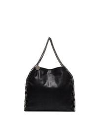 schwarze Shopper Tasche aus Leder von Stella McCartney