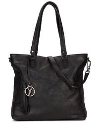schwarze Shopper Tasche aus Leder von SURI FREY