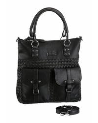 schwarze Shopper Tasche aus Leder von Tamaris