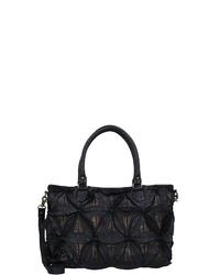 schwarze Shopper Tasche aus Leder von Taschendieb Wien