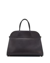 schwarze Shopper Tasche aus Leder von The Row