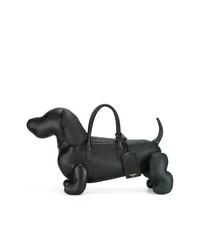 schwarze Shopper Tasche aus Leder von Thom Browne