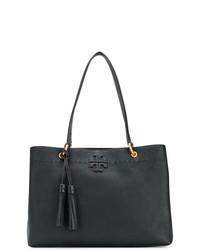 schwarze Shopper Tasche aus Leder von Tory Burch