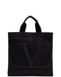 schwarze Shopper Tasche aus Leder von Valentino