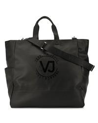 schwarze Shopper Tasche aus Leder von VERSACE JEANS COUTURE