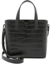 schwarze Shopper Tasche aus Leder von Vince