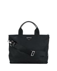 schwarze Shopper Tasche aus Nylon von Prada