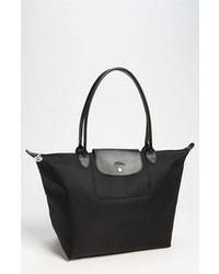 schwarze Shopper Tasche aus Segeltuch