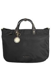 schwarze Shopper Tasche aus Segeltuch von Bugatti