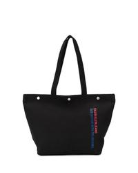 schwarze Shopper Tasche aus Segeltuch von Calvin Klein Jeans