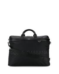 schwarze Shopper Tasche aus Segeltuch von Dolce & Gabbana