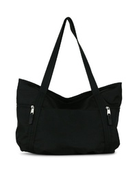 schwarze Shopper Tasche aus Segeltuch von EMILY & NOAH