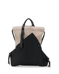 schwarze Shopper Tasche aus Segeltuch von Issey Miyake Men