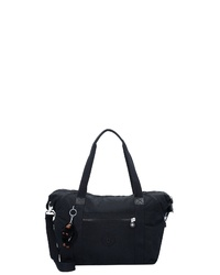 schwarze Shopper Tasche aus Segeltuch von Kipling