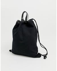 schwarze Shopper Tasche aus Segeltuch von Mi-Pac