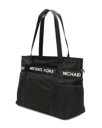 schwarze Shopper Tasche aus Segeltuch von MICHAEL Michael Kors