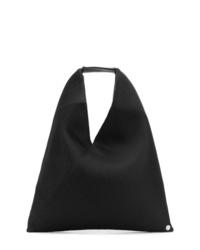 schwarze Shopper Tasche aus Segeltuch von MM6 MAISON MARGIELA