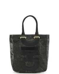 schwarze Shopper Tasche aus Segeltuch von Moschino Cheap & Chic