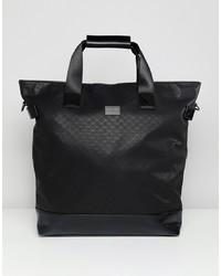 schwarze Shopper Tasche aus Segeltuch von Peter Werth