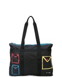 schwarze Shopper Tasche aus Segeltuch von Puma