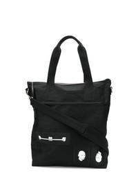 schwarze Shopper Tasche aus Segeltuch von Rick Owens DRKSHDW