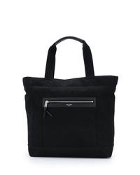 schwarze Shopper Tasche aus Segeltuch von Saint Laurent