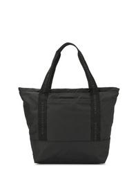 schwarze Shopper Tasche aus Segeltuch von Stella McCartney