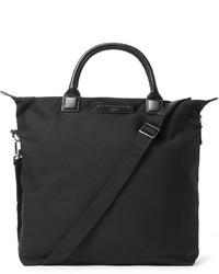 schwarze Shopper Tasche aus Segeltuch von WANT Les Essentiels